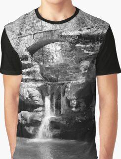 Stone Bridge over the Falls Graphic T-Shirt