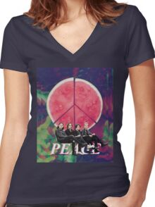 Peace - Delicious Women's Fitted V-Neck T-Shirt