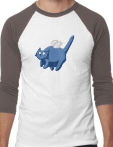 Fat Ghost Cat Men's Baseball ¾ T-Shirt