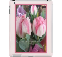 Pink Tulips with scripture verse iPad Case/Skin