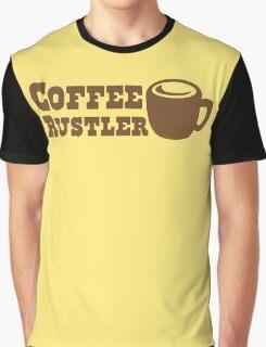 Coffee Rustler with cute mug coffee bean Graphic T-Shirt