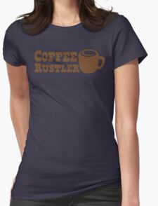 Coffee Rustler with cute mug coffee bean Womens Fitted T-Shirt