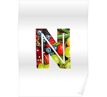 The Letter N - Fruit Poster