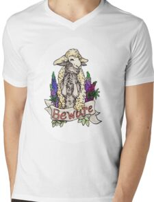 beware the wolf in sheep's clothing Mens V-Neck T-Shirt