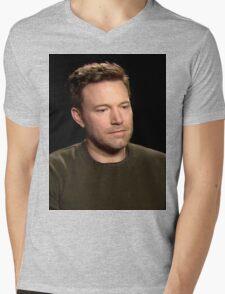 Sad Affleck Mens V-Neck T-Shirt