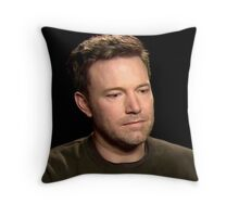 Sad Affleck Throw Pillow