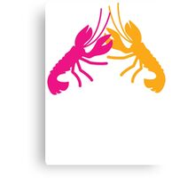 Lobster Crayfish food fight!  Canvas Print