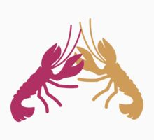 Lobster Crayfish food fight!  Kids Tee