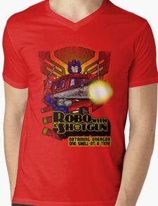 Robo With A Shotgun Mens V-Neck T-Shirt