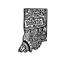 Indiana State Zentangle Photographic Print