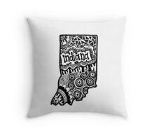 Indiana State Zentangle Throw Pillow