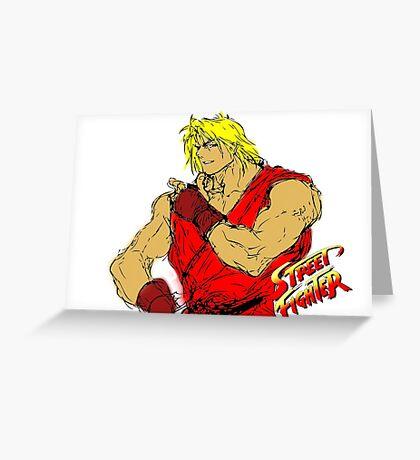 Streetfighter 2 Ken Greeting Card