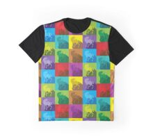 Uniquely quilty colourful Unicorn pattern Graphic T-Shirt