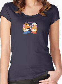 Mr and Mrs Potato Head- You Complete Me? Women's Fitted Scoop T-Shirt