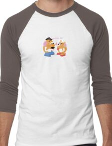 Mr and Mrs Potato Head- You Complete Me? Men's Baseball ¾ T-Shirt