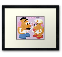 Mr and Mrs Potato Head- You Complete Me? Framed Print