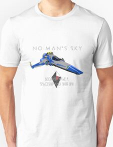 "No Man's Sky ""I have a Spaceship and Shut Up"" 2 Alt Unisex T-Shirt"