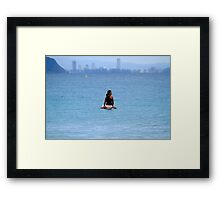 Waiting For A Wave Framed Print