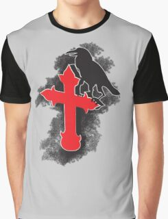 The Dark Crow on the holy cross Graphic T-Shirt