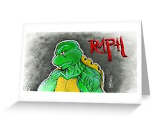"""""""The Angry One - Raphael""""  Greeting Card"""