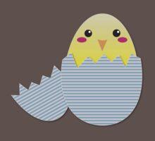 Super cute chicken in a broken egg One Piece - Short Sleeve
