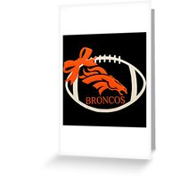 Denver Broncos Greeting Card