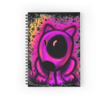 Cute English Bull Terrier Cartoon Design  Spiral Notebook