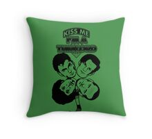 Kiss Me, I'm a Timelord Throw Pillow