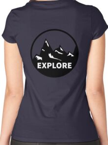 Explore Mountains  Women's Fitted Scoop T-Shirt
