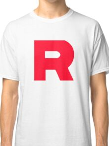 Team Rocket T-Shirt Without Quote Black and White  Classic T-Shirt