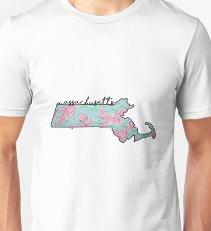 Massachusetts Outline Unisex T-Shirt