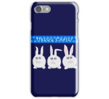 Happy Easter Three Sweet Bunnies iPhone Case/Skin