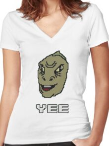 Yee-Shirt Women's Fitted V-Neck T-Shirt