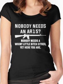 Nobody Needs An AR15 Women's Fitted Scoop T-Shirt