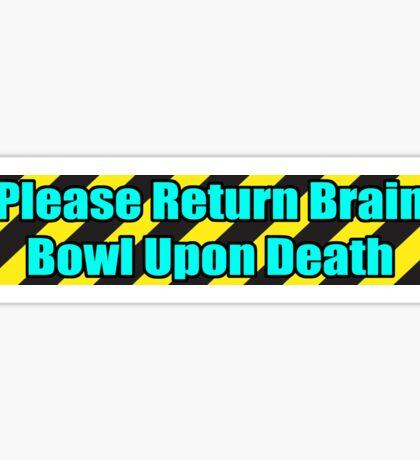 Brain Bowl - Cyan Sticker