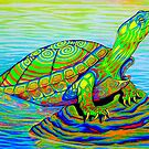 Painted Water Turtle by Rebecca Wang
