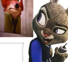 Zootopia Wanted Sticker