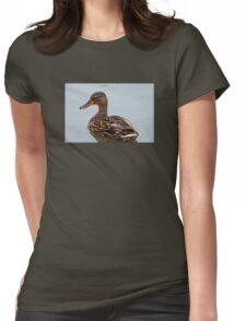 Lovely Female Mallard Duck Womens Fitted T-Shirt