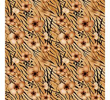 Seamless floral patterns backgrounds .Floral backgrounds, tiger background Photographic Print