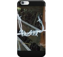 bob wire fence #2 iPhone Case/Skin