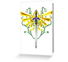 Master Sword and Triforce Greeting Card