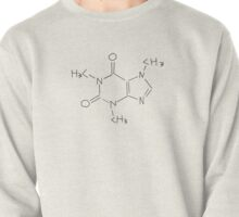 Caffeine Chemical Structure (Alternative Sketch Version) Pullover