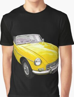 Yellow convertible MG classic car Graphic T-Shirt
