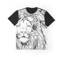 Lion With Flowers in His Hair Graphic T-Shirt