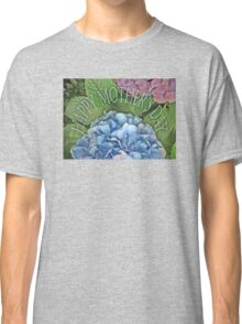 Happy Mother's Day, blue Hydrangea. flower Classic T-Shirt