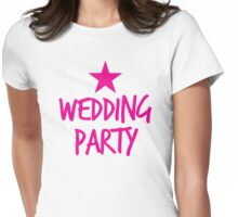 Wedding party STAR Womens Fitted T-Shirt