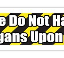 Organ Don'ter - White Sticker