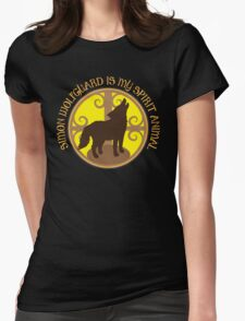 SIMON WOLFGUARD is my spirit animal Womens Fitted T-Shirt