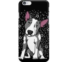 Starry English Bull Terrier Grey and White iPhone Case/Skin