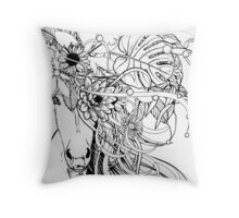 Horsie With Flowers in its Hair Throw Pillow